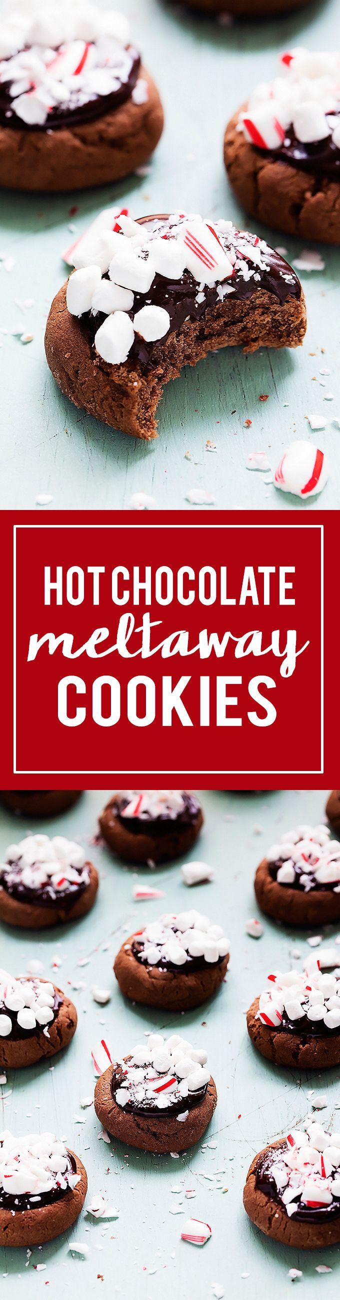Hot Chocolate Meltaway Cookies   Creme de la Crumb