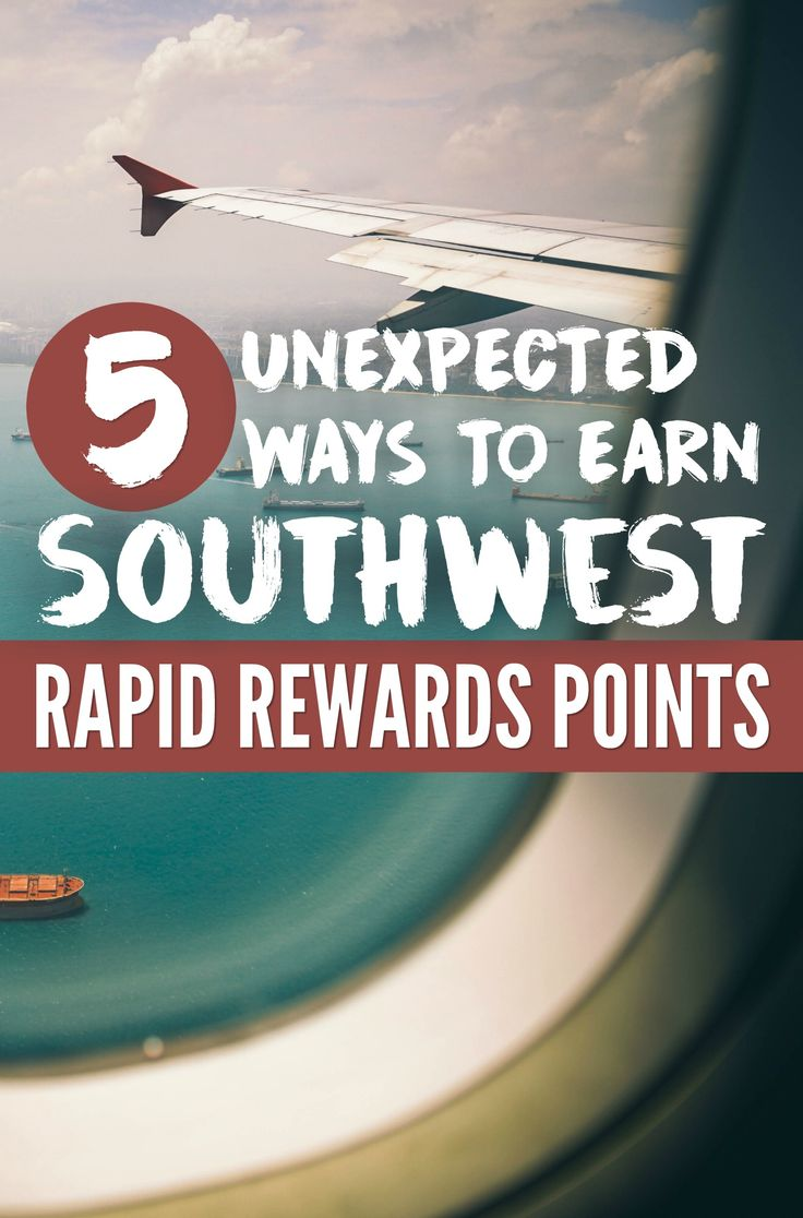 5 Surprising and Easy Ways to Earn Southwest Rapid Rewards Points for free flights via @GotoTravelGal