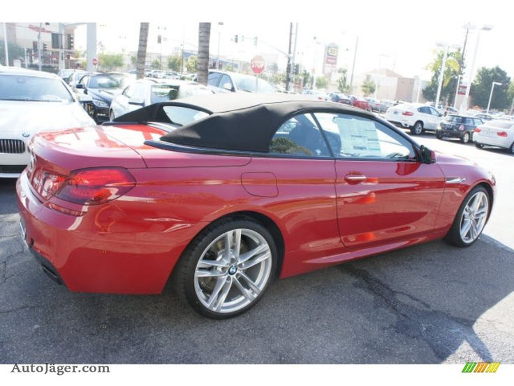 red convible top bmw  2013 BMW 6 Series 650i Convertible in Imola