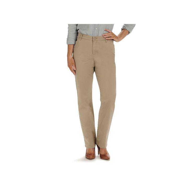 Women's Lee Original All Day Relaxed Fit Pants, Size: 4 - regular, Med Brown