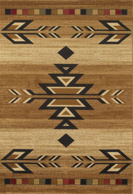 Rio Grande Southwestern Area Rug Collection - Antique Beige