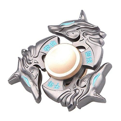 Hot Sale ! Ninasill Exclusive Cool NEW Alloy Hand Spinner Tri Fidget Focus Toy EDC Finger Spin Gyro ADHD Autism