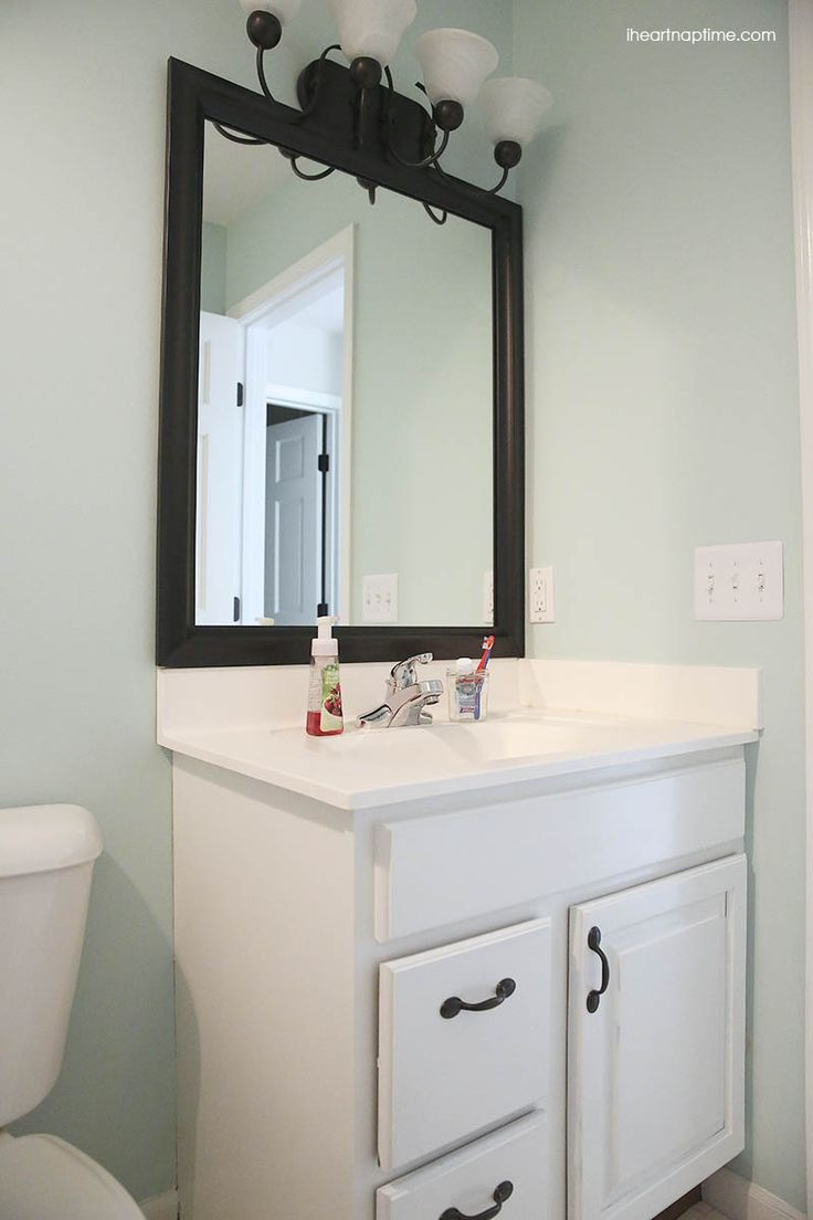 Bathroom Mirror Makeover 89 best design & diy blogger makeovers images on pinterest