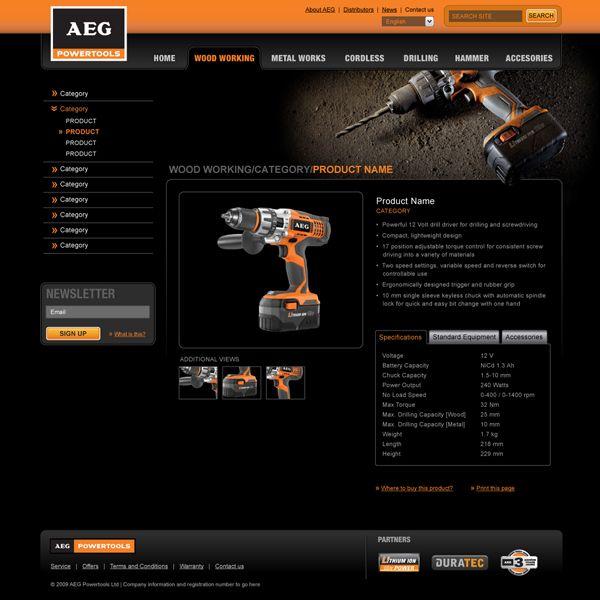 AEG Powertools on Behance