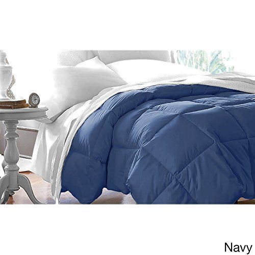 Ph Single Piece Twin Navy Down Alternative Comforter 64 X 88
