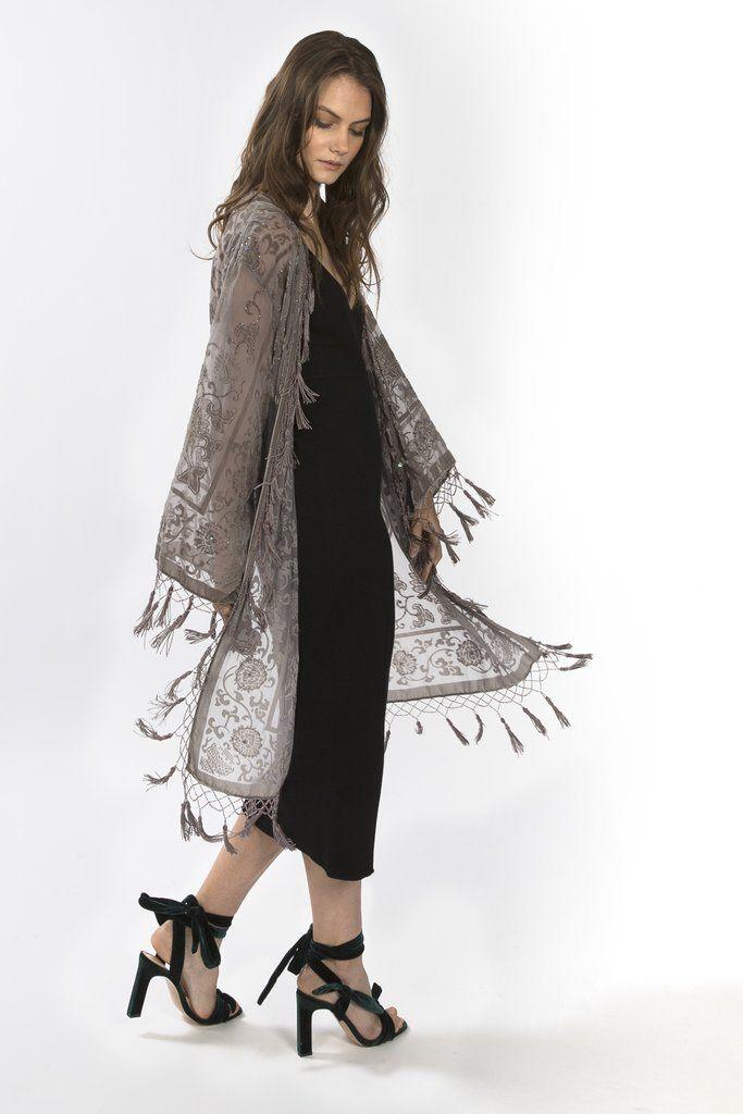 Silk Devore Kimono - Jayley Collection