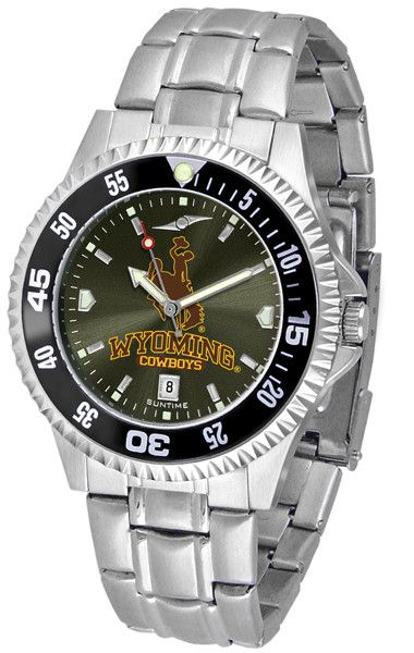 Wyoming Cowboys - Competitor Steel AnoChrome - Color Bezel