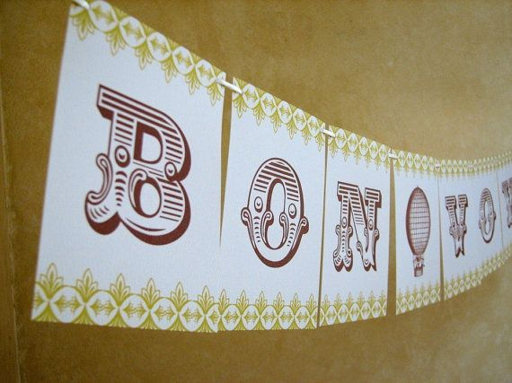 Bon Voyage Travel Inspired Paper Banner Party Garland by Earmark. , via Etsy. 15 dollars