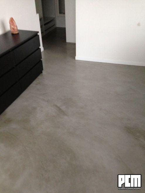 pavimenti cemento salotto