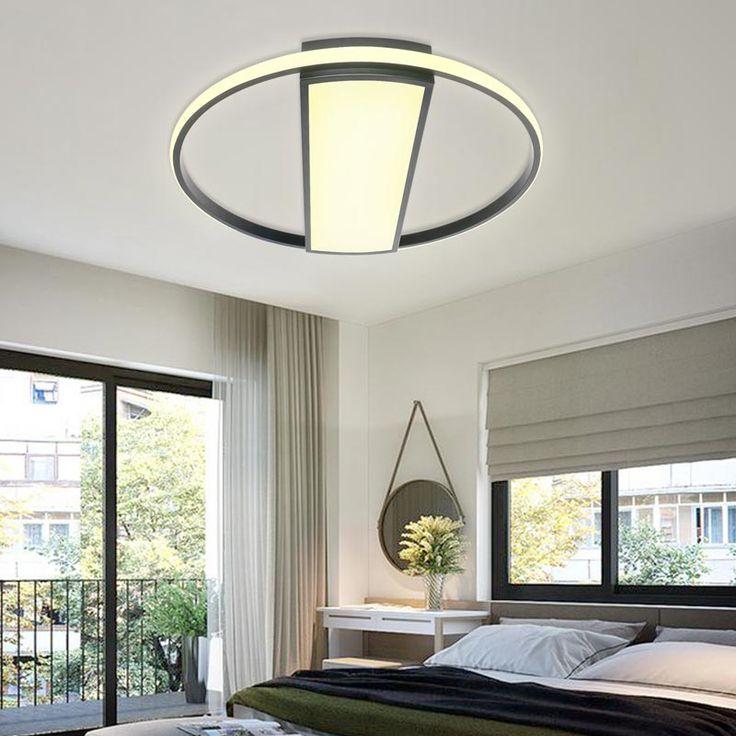 Plafonnier led en aluminium acrylique rond nordique pour - Plafonnier salle a manger ...
