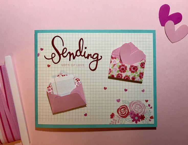 Love the #simonsaysstamp valentine card kit! Those little envelopes from #doodlebugdesign are adorable ❤️❤️❤️ #sssflickrchallenge 89 #ssswchallenge #sssck sending die from Simon says stamp, lots of love stamp from sss sending happy thoughts stamp set