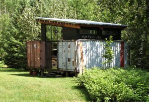 simple container home on stilts