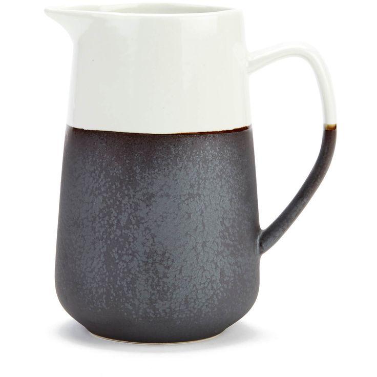 two tone ceramic pitcher