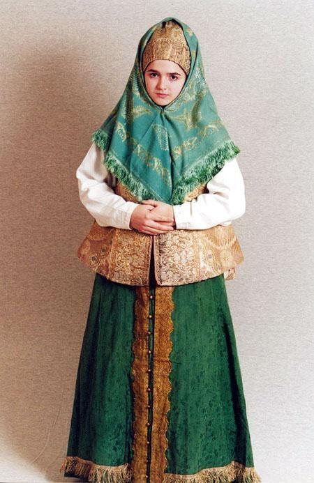 Северный русский народный костюм. Открытки