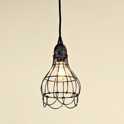 hanging wire light: Hanging Lights, Cages Work, Kitchens Benches, Lights Pendants, Kitchens Lights, Pendants Lights, Industrial Lights Kitchens, Cages Lights, Industrial Cages