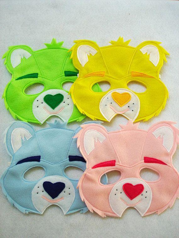 Care Bear felt masks.