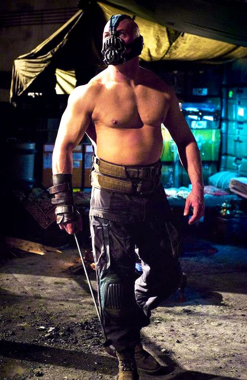 Tom Hardy as Bane in TDKR....oh my god why is that belly so hot