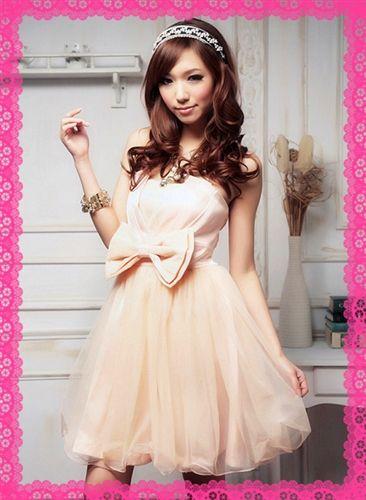 結婚式ドレス パーティードレス お呼ばれ胸リボンかわいいミニドレス: Fashion House|仕入れ・卸問屋【イチオクネット】
