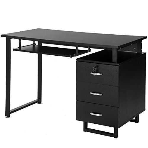 Merax Multipurpose Home Office Black Computer Desk With