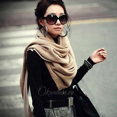 Как на короткое пальто завязать шарф