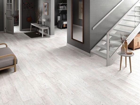 Lime wash look oak timber floors in these amazing Spanish wood look tiles. Kalafrana Ceramics Sydney.