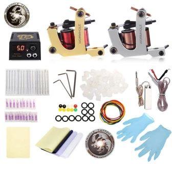 เก็บเงินปลายทาง  WORMHOLE TATTOO Complete Kit 2 Machines Shader Liner 20 Inks PowerSupply Accessories (US PLUG) (Silver) - intl  ราคาเพียง  1,622 บาท  เท่านั้น คุณสมบัติ มีดังนี้ Smooth appearance, fine workmanship. The rubber bands can avoid machine vibration. Usage: plug in the power then it can work. The magnetic force back seat is strong. Power supply: 10 x 13 x 6cm. Machine gun: 8.5 x 8 x 4cm. Needle sizes: 5RL, 3RS, 5RS, 3RL. Tattoo needle mouth: 3RT, 5RT.