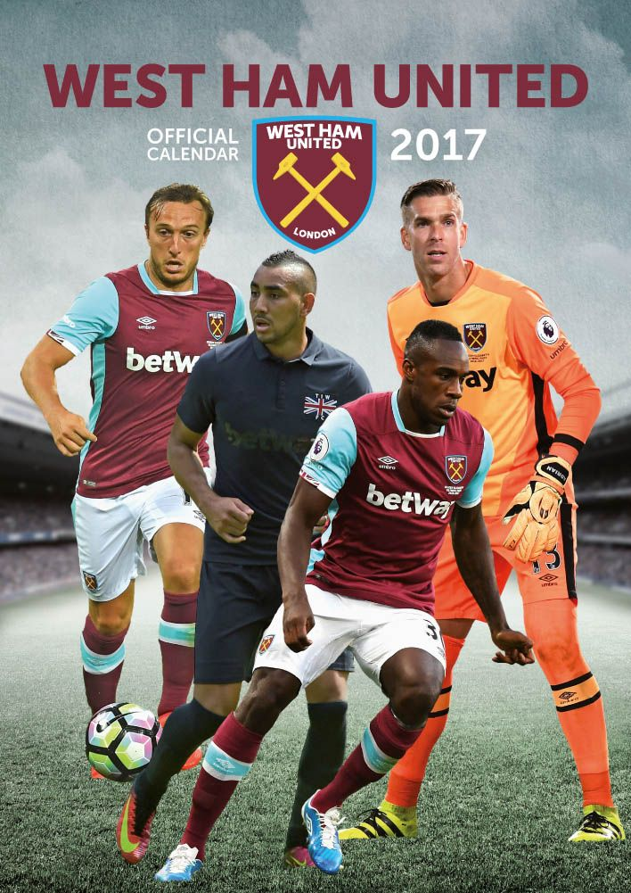 Official West Ham 2017 Calendar now available for only £8.99 and Free UK Delivery (Worldwide Delivery also available) at http://bit.ly/FootballCals2017