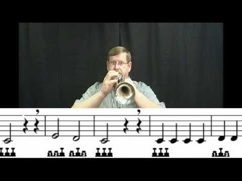 learnitonlinetoday: How to Play Trumpet- Lesson #5 Songs.