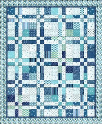 Moda Bake Shop: Landlocked Sea Lover's Quilt    Super Love this fabric!  Saw it today in a quilt and I know I'm going to have to add it to the stash!  Love this beautiful land-locked quilt by a fellow Texan!  This one will go to the top of the to do pile =)!