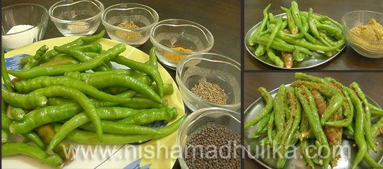 Green Chilli Pickle Recipe