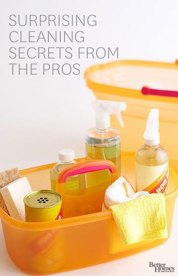 Check out these tips, direct from the cleaning experts, and you'll feel confident bringing their job home with you: http://www.bhg.com/homekeeping/house-cleaning/tips/cleaning-secrets/?socsrc=bhgpin012015surprisecleaning