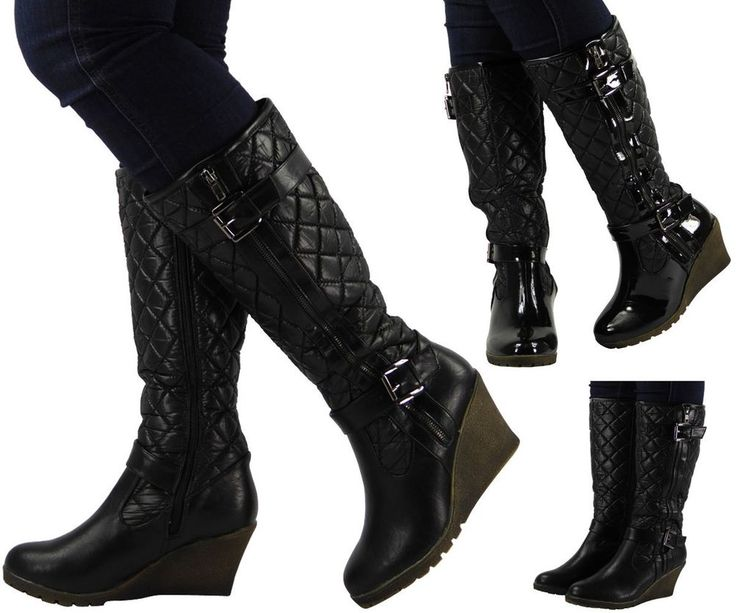 47 best LADIES LONG BOOTS images on Pinterest   High heeled boots ... : quilted long boots - Adamdwight.com