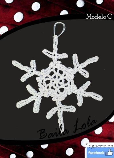 copito de nieve hecho en ganchillo