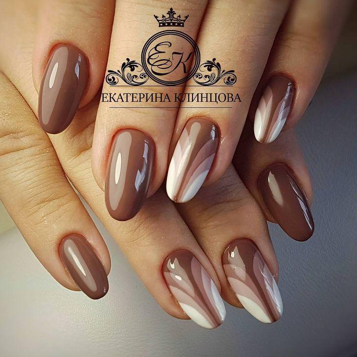 Die besten 25 braun nagelkunst ideen auf pinterest n gel br unen braune n gel und braune - Nageldesign braun beige ...