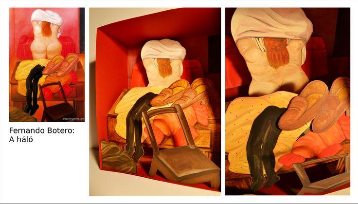 Demeter Noémi, dioráma Fernando Botero, A háló c. képe alapján. / Demeter Noémi, diorama - after Fernando Botero