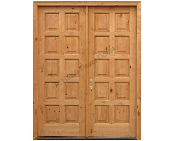 Pure Wooden Ten Panel Main Double Door Pid006   Main Doors Design   Door  Designs