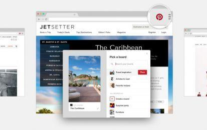 Pinterest e il pulsante per salvare le pagine e le immagini - Dalla mente di Pinterest un'altra idea lampo: un pulsante del browser. Disponibile gratuitamente come estensione per Google Chrome, Mozilla Firefox e Safari, serve a ridurre i click necessari a salvare oggetti utili.
