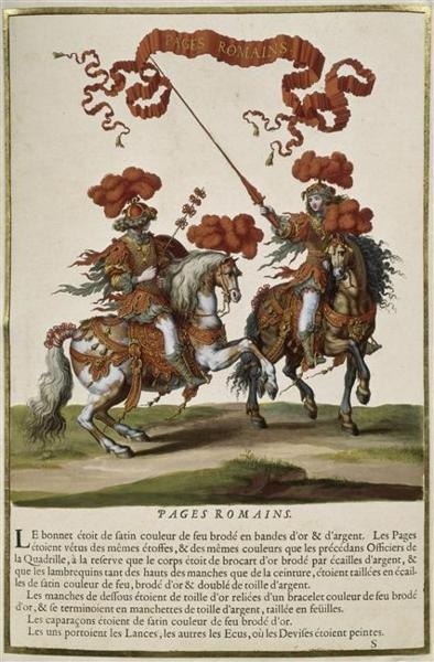 """Romans"" in the Grand Carrousel 1662."