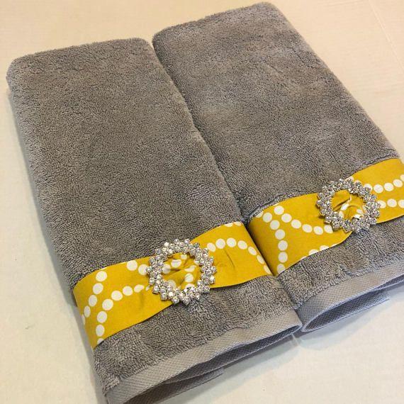 Bathroom Colour Ideas Towels Yellow White Grey Yellow