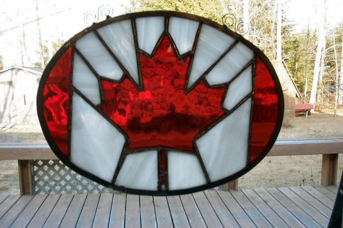 Canadian Flag - I love this project. I really like how they shaped all of the pieces into the oval. Difficulty:Hard