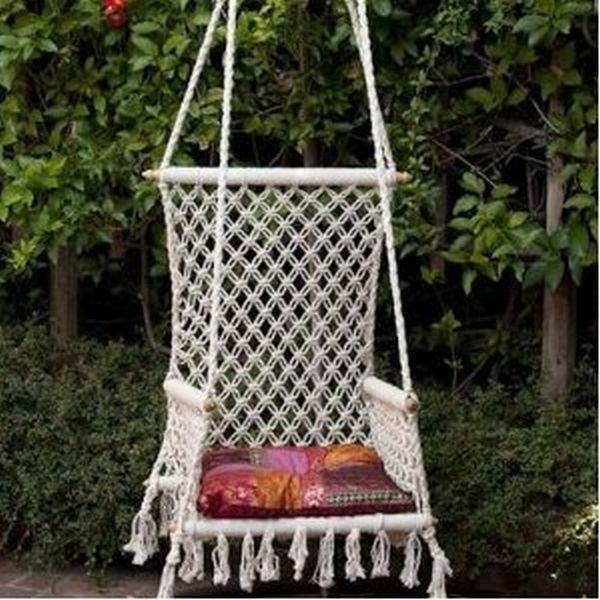 17 best images about macrame on pinterest macrame owl for Macrame hanging chair