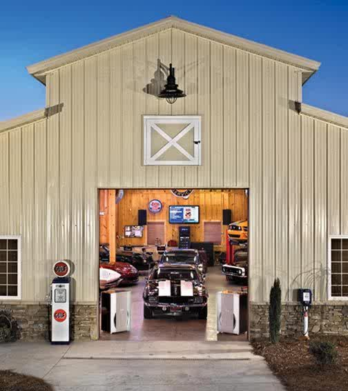25 best barn garage ideas on pinterest barn shop pole for Cool garage designs