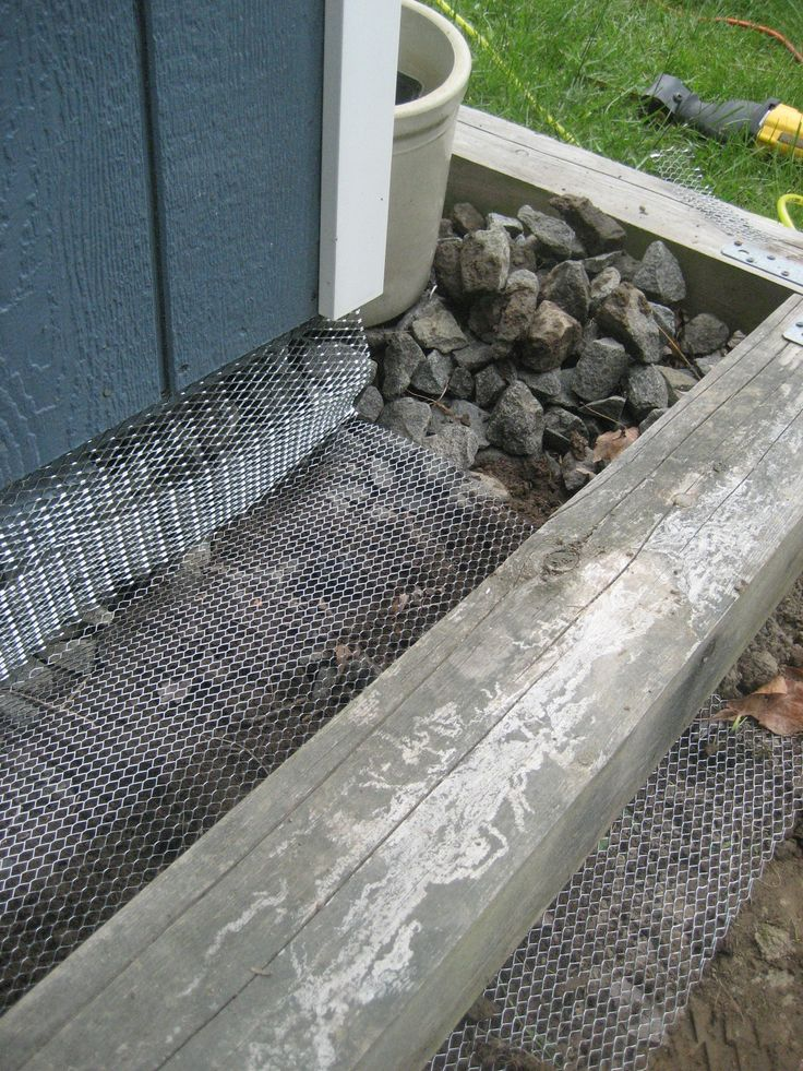 skirting under a shed discourage rodents - Google Search