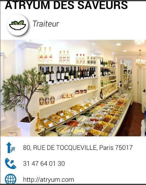 Atryum des saveurs , traiteur gastronomique Paris 17eme : http://atryum.com
