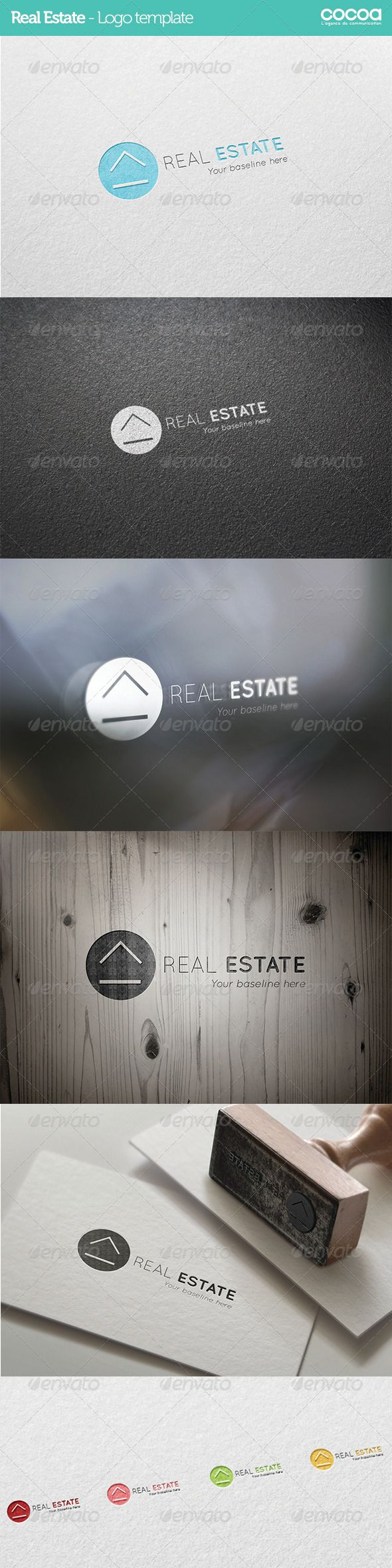 Real Estate - Logo template #GraphicRiver An excellent logo template suitable…                                                                                                                                                                                 More