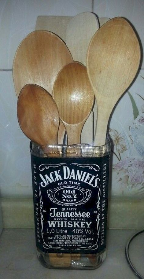 Wine utensil holder. One for wooden spoons, one for spatulas. Because one crock is just not holding it all