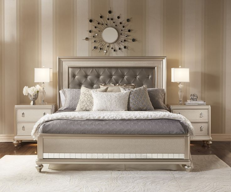 Champagne Bedroom  | Traditional Champagne Finish Bedroom
