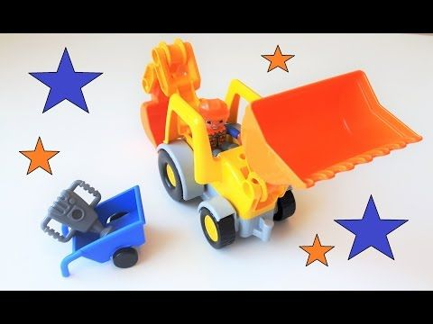 Lego Duplo front loader video for kids