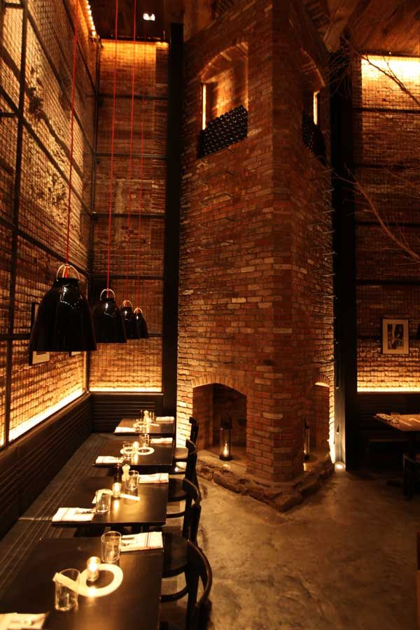 Tartinery Restaurant in New York City by SOMA Architects  LED lights very pretty