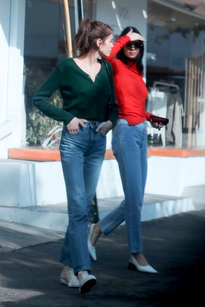 1a4398b1cb12c Kaia Gerber Charlotte Lawrence and Kendall Jenner  Out in West Hollywood  -10 - GotCeleb